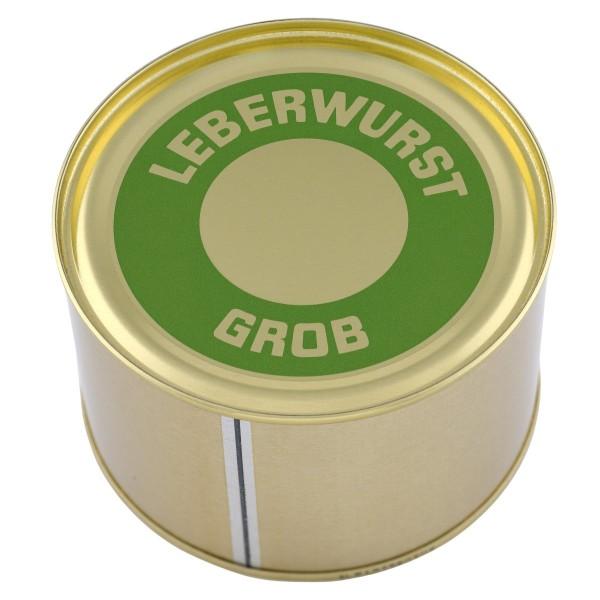 Grobe Leberwurst Hausmacher Art / Garwurst / Dose / 400g