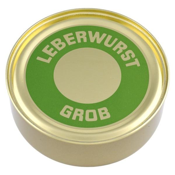 Grobe Leberwurst Hausmacher Art / Garwurst / Dose / 200g